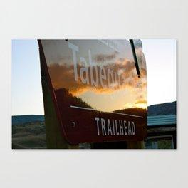 Trailhead Sunset Canvas Print