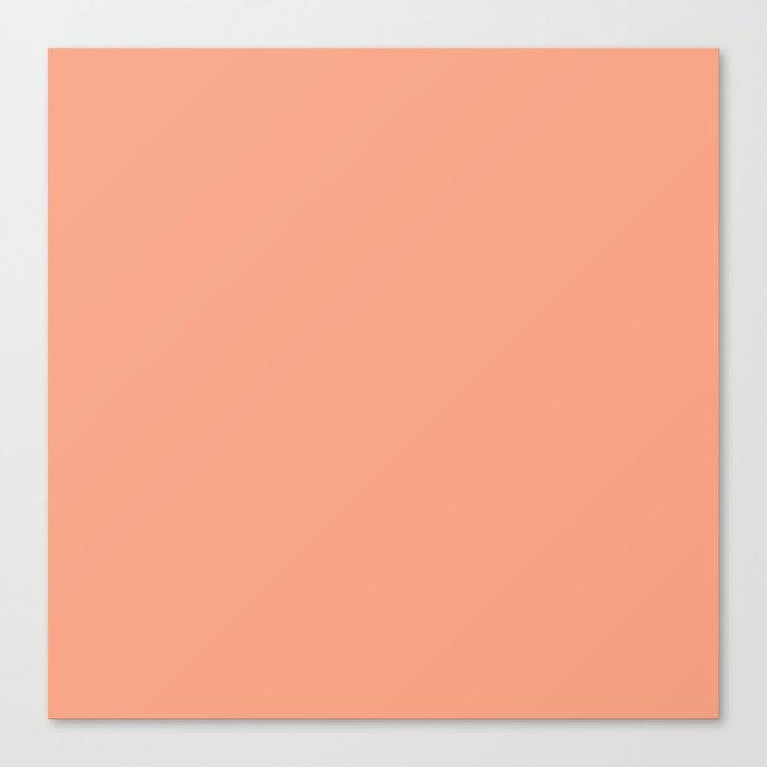Hibiscus Solid Peach Flower Accent Leinwanddruck