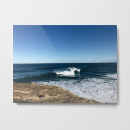 New Zealand Beach Wave Metal Print