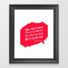 Richard Branson success quote Framed Art Print