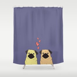 Purple Pugs Shower Curtain
