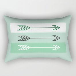 Arrows 3 Mint Rectangular Pillow