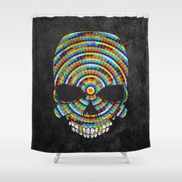 Hypnotic Skull Shower Curtain