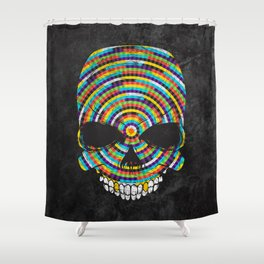 Hypnotic Skull Shower Curtain