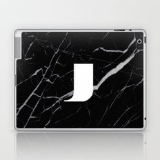 Black Marble - Alphabet J Laptop & iPad Skin