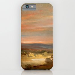 """John Constable """"A View on Hampstead Heath, Early Morning"""" iPhone Case"""