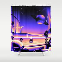 oasis Shower Curtains featuring Oasis by victormgraphics
