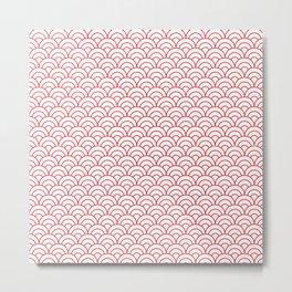 Nautical Seamless Collection 29 - waves, Ukiyo-e Metal Print
