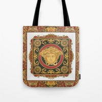 givenchy Tote Bags featuring Classic Versace by Goldflakes