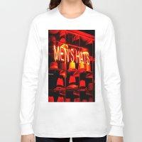 hats Long Sleeve T-shirts featuring Men's Hats by Wanker & Wanker
