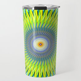 Green Machine Spiral Art Design Travel Mug
