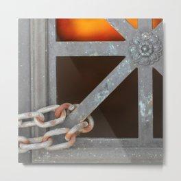 Sunset Through Crypt Metal Print