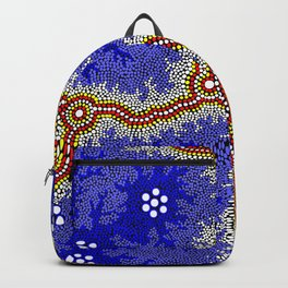 Aboriginal Art Authentic – Water Wetlands Backpack