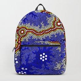 Aboriginal Art Authentic – Water Wetlands Backpack
