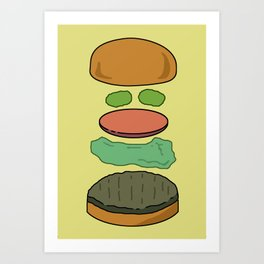 Deconstructed Burg Art Print