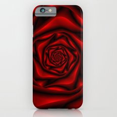 Rose Spiral in Black and Red iPhone 6s Slim Case