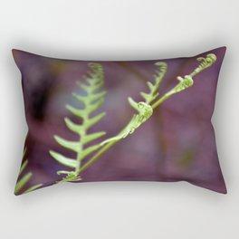 Fresh Unfurling Fern Rectangular Pillow
