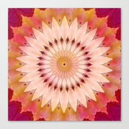 Sunfower Tropical Mandala Canvas Print