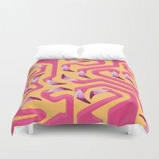 Flamingo Maze Duvet Cover