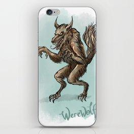 Werewolf illustration iPhone Skin