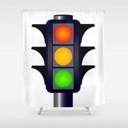 Hooded Traffic Lights Shower Curtain