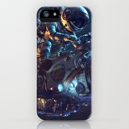 Super Funny Jackass Astronaut Riding Nuclear Space Rocket Bike Ultra HD iPhone Case