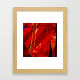 red spiky Framed Art Print