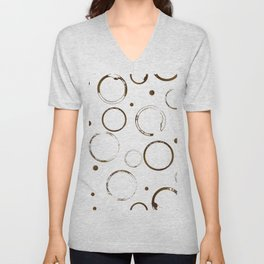 Coffee stains and drops pattern Unisex V-Neck