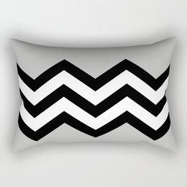 GRAY COLORBLOCK CHEVRON Rectangular Pillow