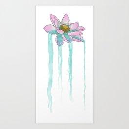 Lotusfall Art Print