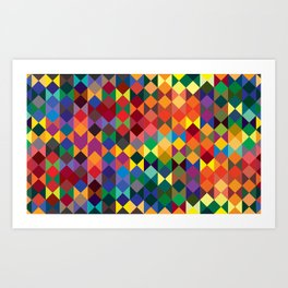 P1: Sunset Diamonds Art Print