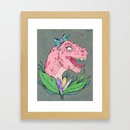crystal dinosaur. Framed Art Print