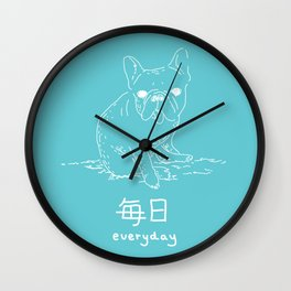 French Bulldog (mainichi) Wall Clock