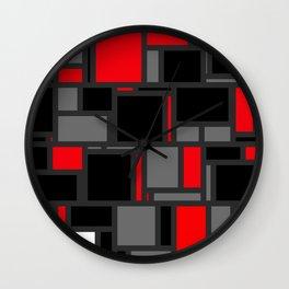 Modern Mondrian Wall Clock