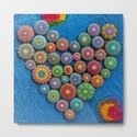 Mandala Stone Love Heart by elspethmclean