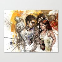 rave Canvas Prints featuring rave by Satish Gangaiah