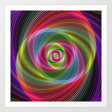 Psychedelic spiral dream Art Print
