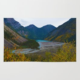 Kinney Lake in Mount Robson Provincial Park, BC, Canada Rug