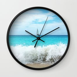 Sailing the Caribbean Wall Clock