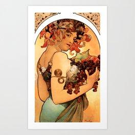 Alphonse Mucha Wine Goddess Art Print