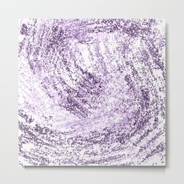 Purple Abstract Artistic Simple Design For Her Metal Print