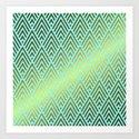 Gold foil triangles on aqua by betterhome