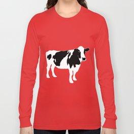 Cow on blue Long Sleeve T-shirt
