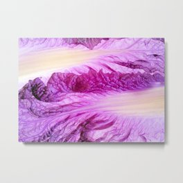 Purple Cabbage Beautiful Abstract Patterns By Nature Metal Print