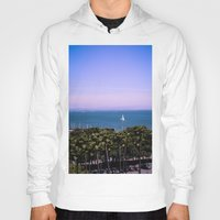 palm trees Hoodies featuring palm trees by Jared Jung