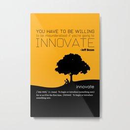 Innovate Metal Print