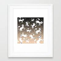 kittens Framed Art Prints featuring kittens by Seefirefly