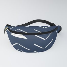 Mud Cloth Vector in Navy Fanny Pack