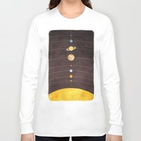 solar system Long Sleeve T-shirts featuring Solar System by Annisa Tiara Utami
