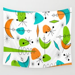 Mid-Century Modern Space Age Wall Tapestry